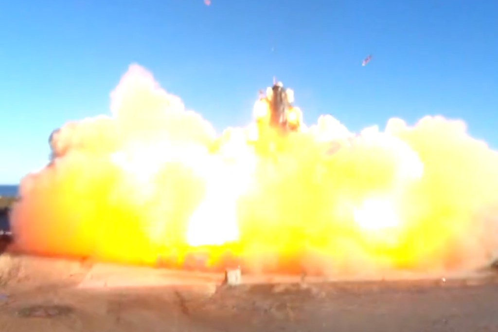 VIDEO: This is how the prototype of the SpaceX spacecraft exploded on a landing