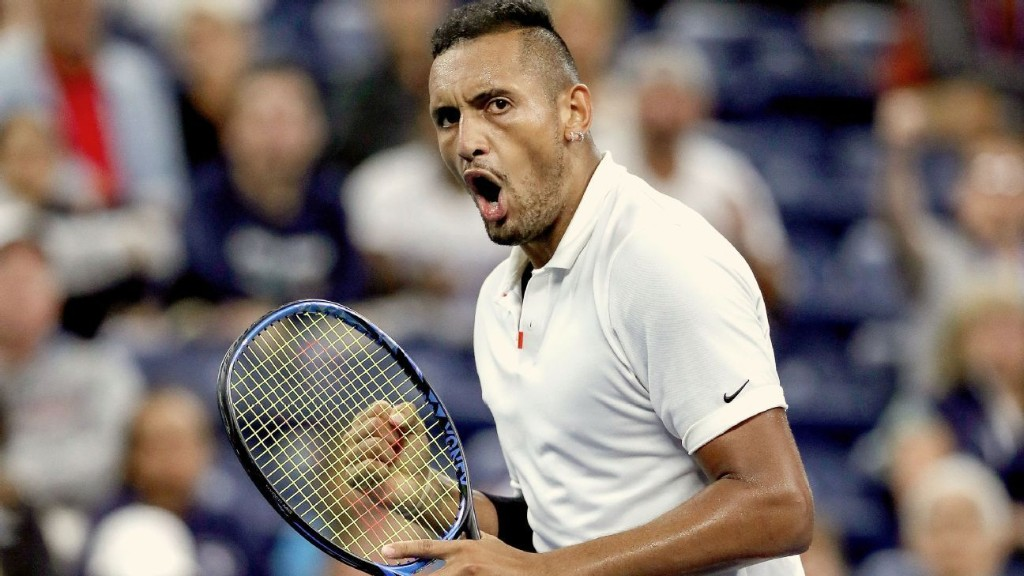 Oh, the things you missed from Nick Kyrgios' first-round US Open match