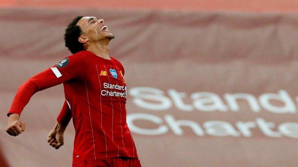 Alexander Arnold and Keita both 8 out of 10 as Liverpool lift Premier League trophy in style