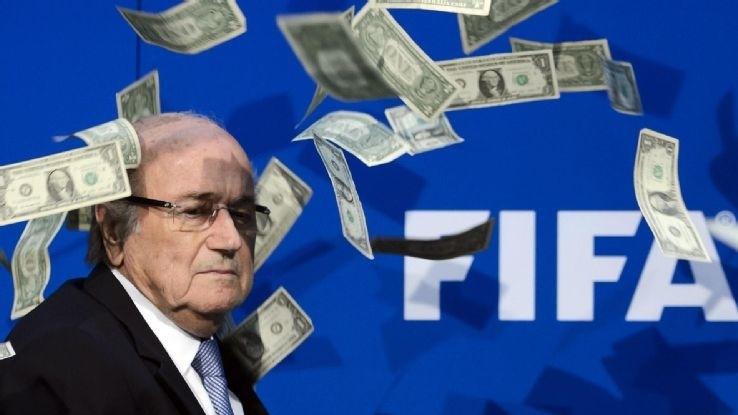 FIFA Corruption - Magazine cover