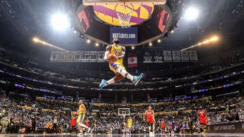 LeBron's dunk gives us another iconic image