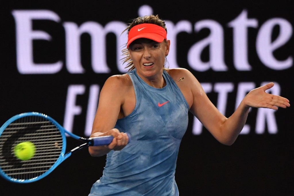 Maria Sharapova advances, will face defending champ Caroline Wozniacki next
