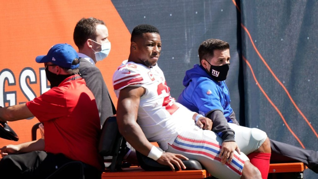 MRI confirms Giants RB Barkley has torn ACL