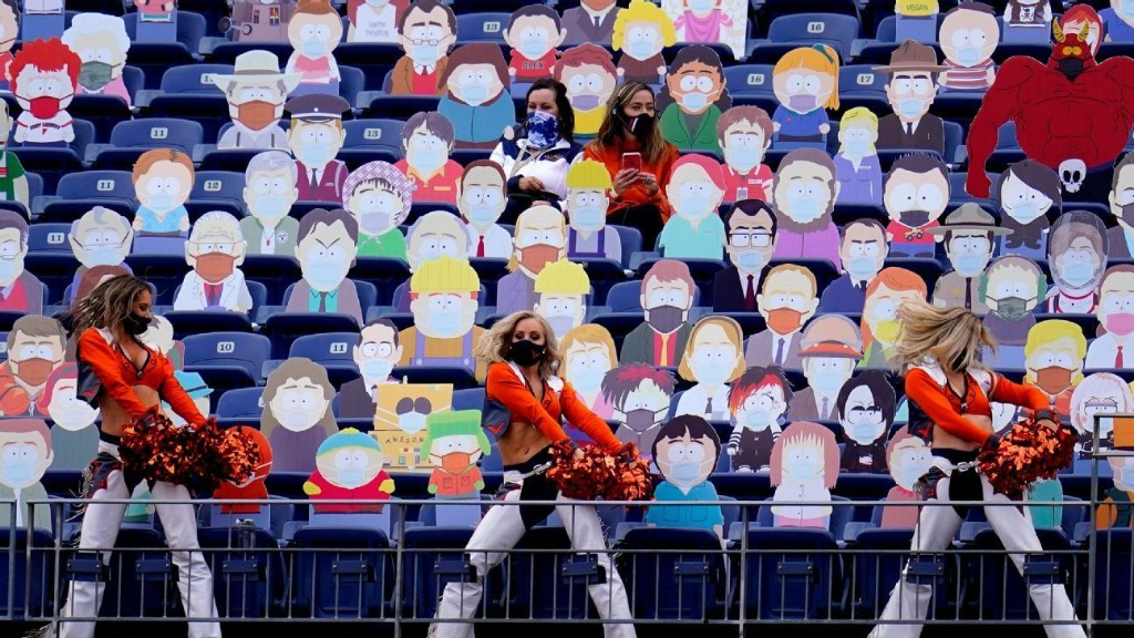 South Park cut-outs spread across five sections at Broncos game