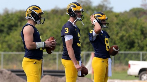 Jim Harbaugh takes hands-off approach to QB race