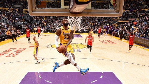 Lakers still in awe over LeBron's Kobe tribute slam