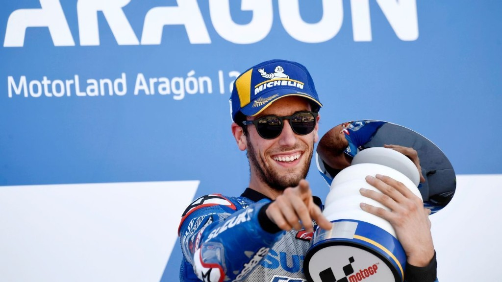 Alex Rins wins Aragon Grand Prix for first MotoGP victory of the season