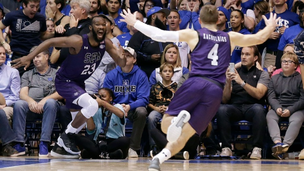 Stephen F. Austin hands Duke first nonconference home loss since 2000