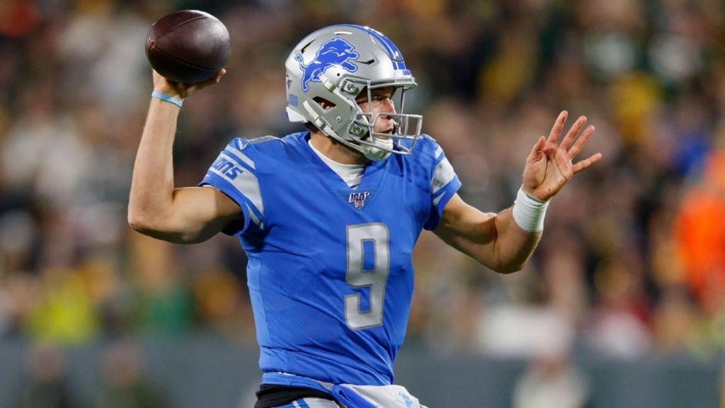 Lions' Stafford fastest to 40,000 passing yards