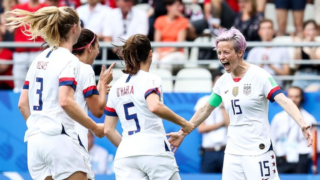 U.S. beats Spain with pair of Rapinoe penalties
