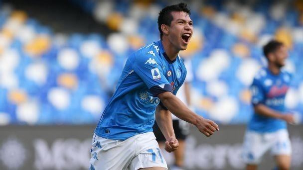 Lozano scores two as Napoli give Atalanta dose of their own medicine