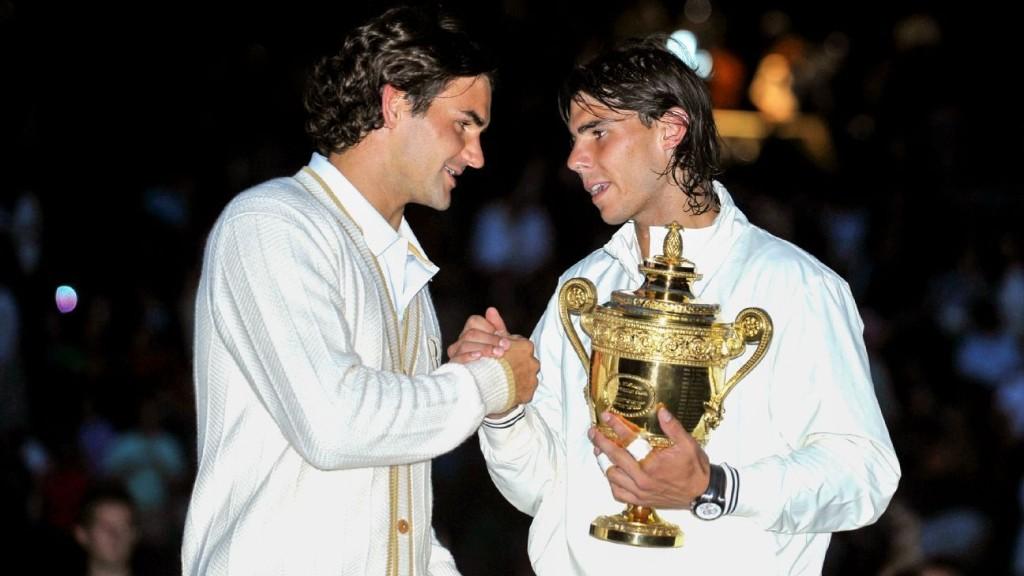 Roger Federer and Rafael Nadal's epic 2008 Wimbledon final