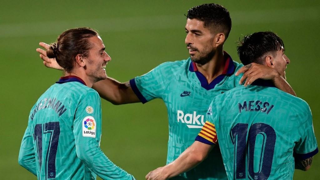 Barcelona's new formation sees Griezmann, Messi, Suarez combine brilliantly