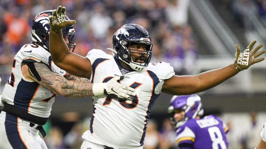 Broncos' Harris sees positive side of 1-year deal
