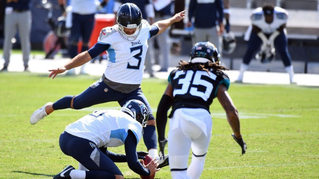 Tennessee Titans' Stephen Gostkowski rebounds with game winner