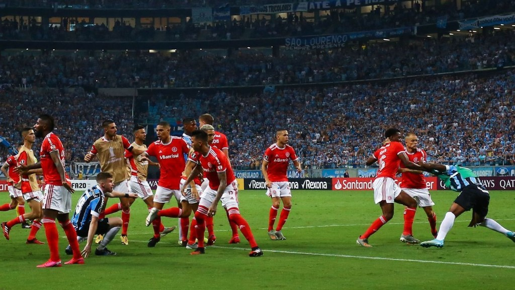 Eight sent off as Gremio and Internacional get heated in Porto Alegre derby