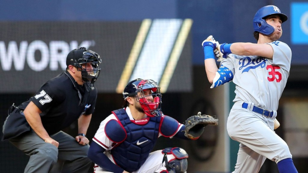Dodgers' Bellinger shifts to DH due to stiff back