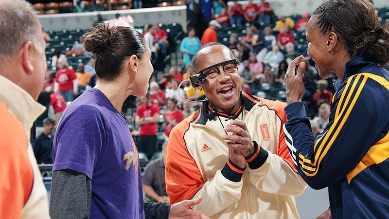 Referee cam debuts in Mercury-Fever game