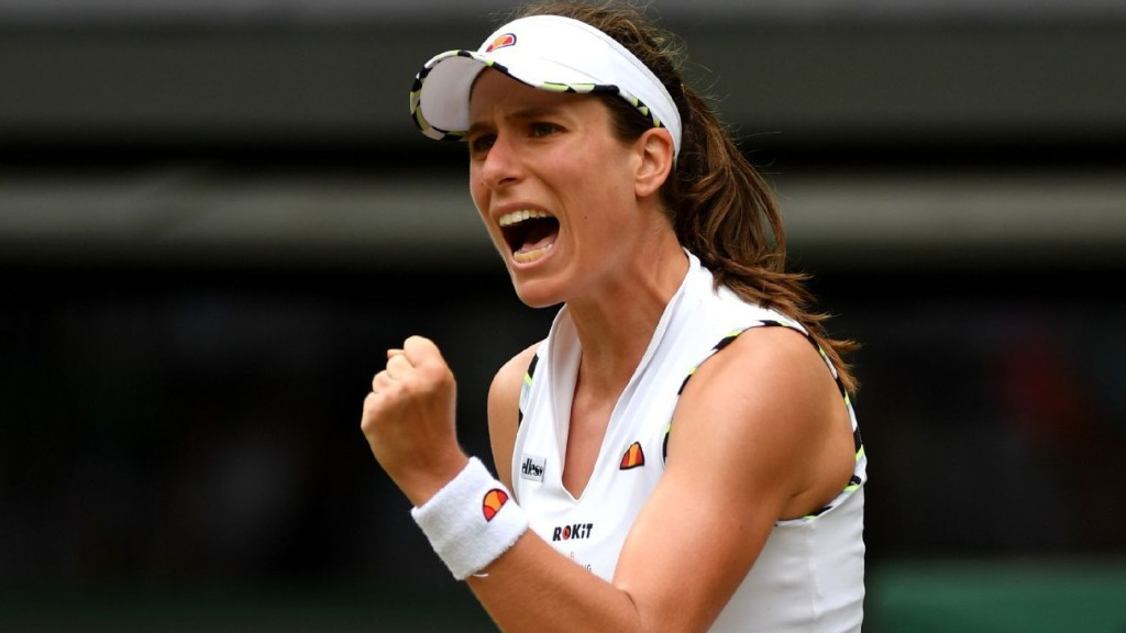 Konta, reporter have tense exchange after loss