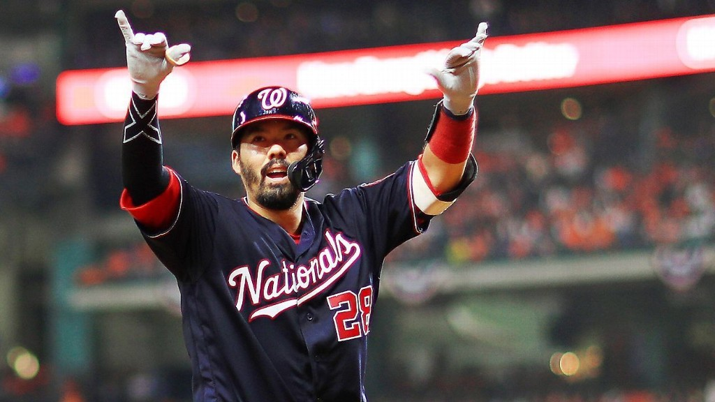 The Nationals pulled to within two wins of a title in one wacky inning