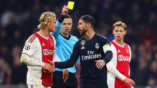 Real Madrid's Sergio Ramos could face two-match ban for intentional booking
