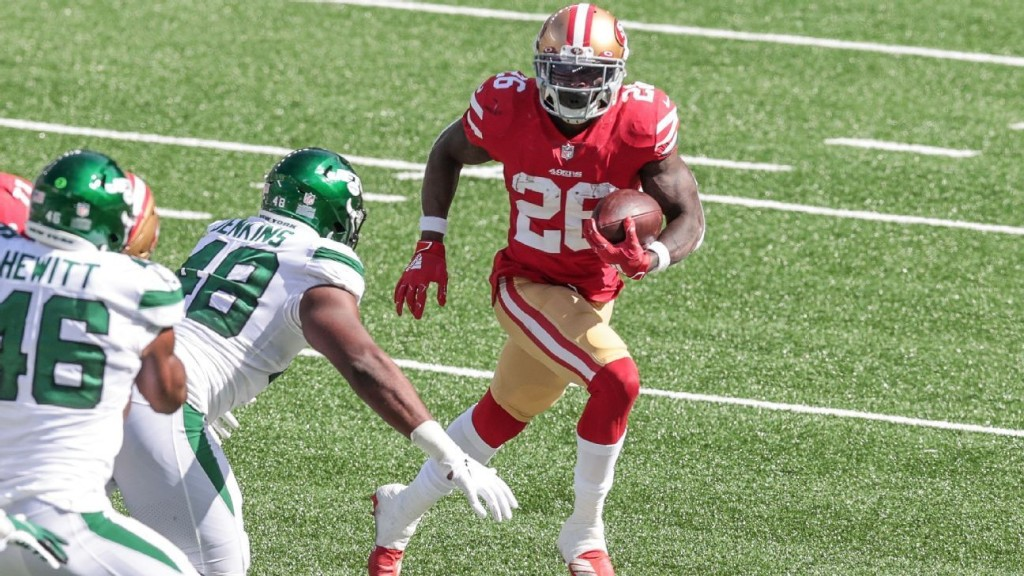 San Francisco 49ers place running back Tevin Coleman on IL due to sprained knee