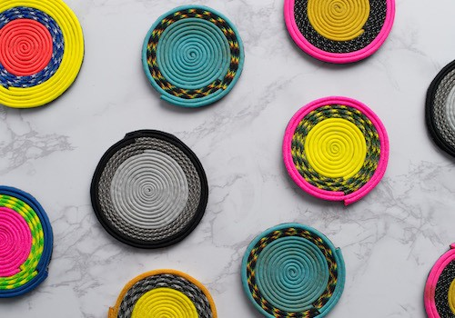How to Make Cheerful Paracord Coasters