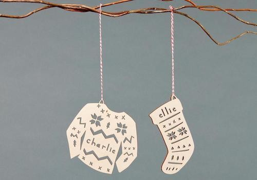 Custom-cut Ornaments and Cake Toppers From Light + Paper