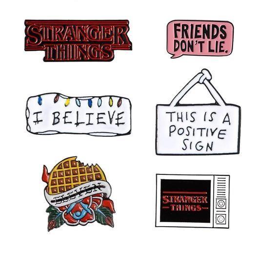 Stranger Things Enamel Pins TV Series Brooch A Positive Sign | Etsy