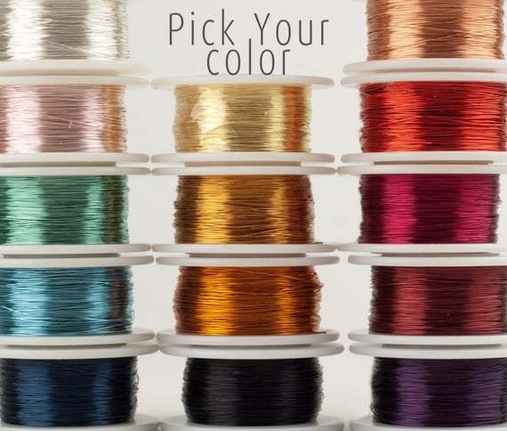 Craft Wire - Pick Your Color - Wire Crochet Supply - 28 Gauge wire - Extra long wire 120 feet - Non tarnish jewelry wire - Holiday DIY