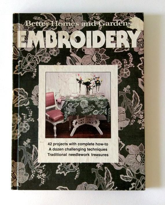 Embroidery Book DIY Craft Book Better Homes Garden How To   Etsy