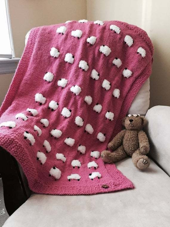 Cozy sheep baby blanket