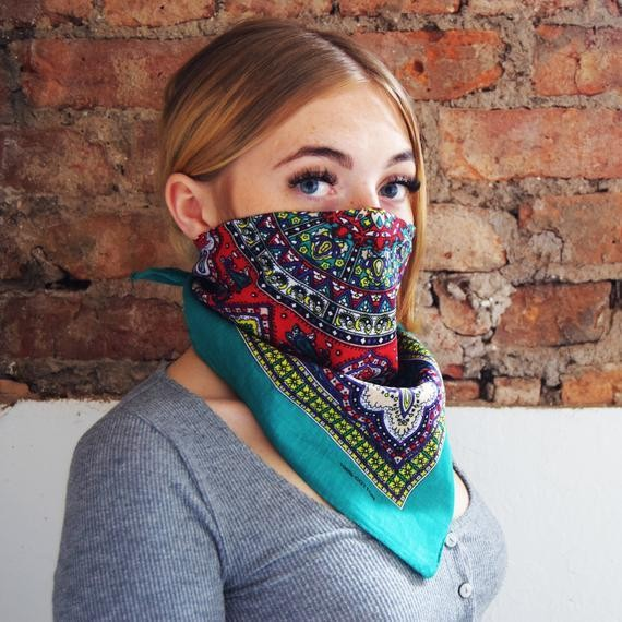 Paisley Vintage Design Face Covering