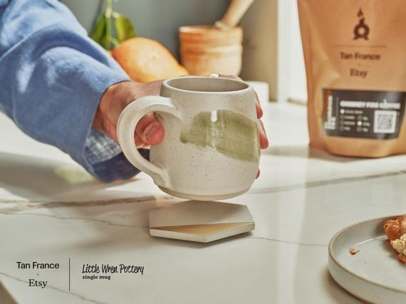 Hand-thrown ceramic mug