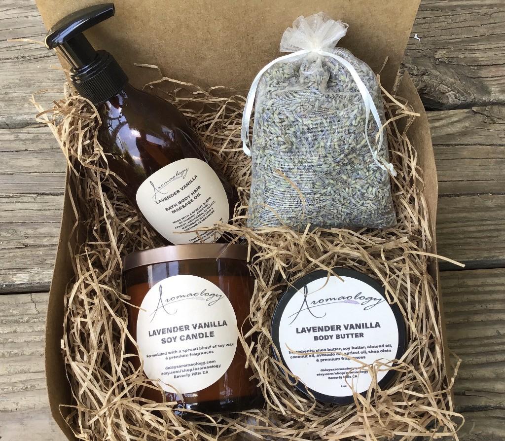 Lavender aromatherapy gift set