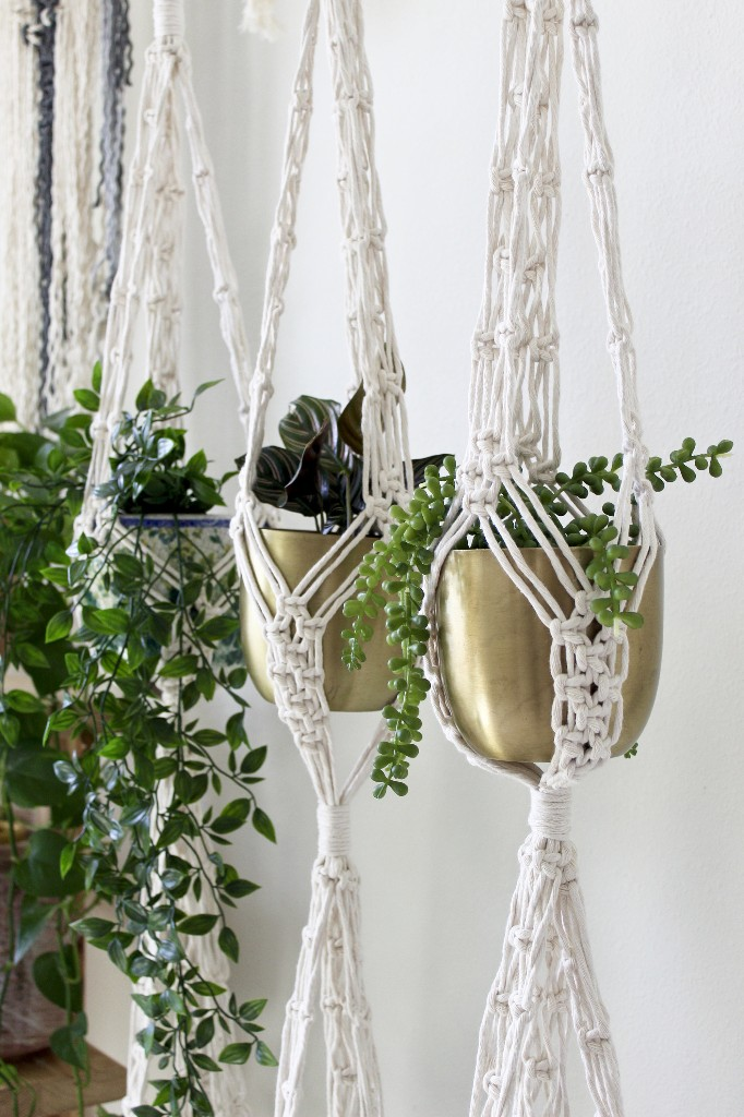 20% off a double macrame plant hanger