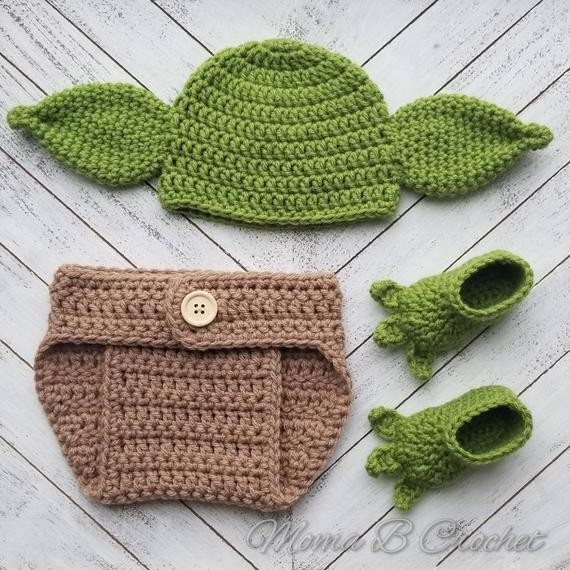 Give New Parents The Cutest Baby Yoda Crochet Star Wars Baby Set Ever