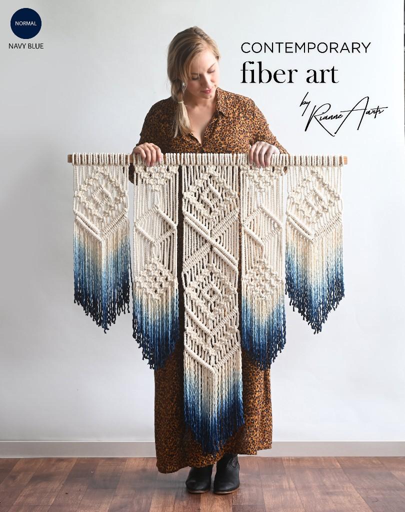 $90 off a geometric macrame tapestry