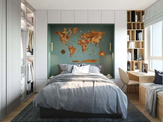 Save $72 on a wood wall map