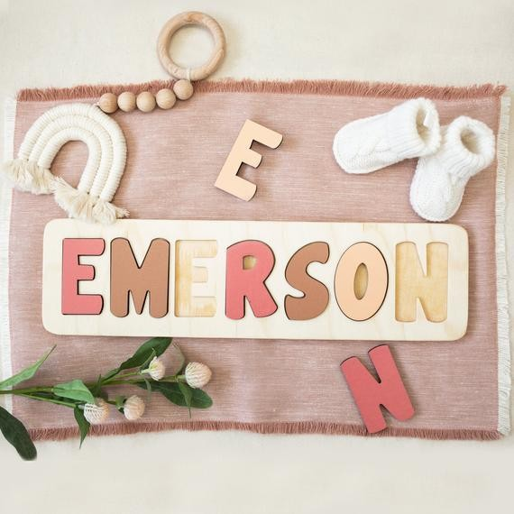 Name puzzle for toddlers