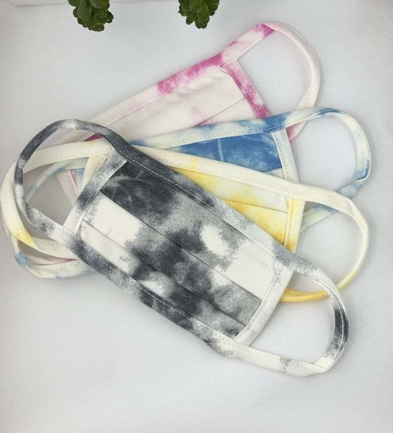 Cloudy Tie Dye Mask