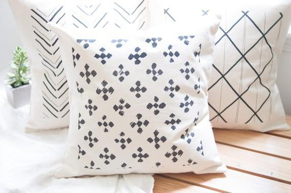 Boho pattern pillow