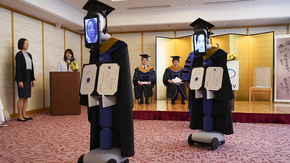 Robots attend graduation in place of students at Japanese university
