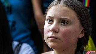 Watch again: Greta Thunberg joins climate change protest outside White House