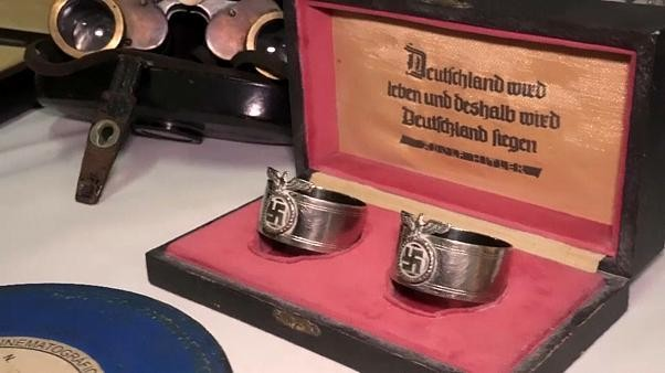 Nazi relics hidden behind sliding bookcase in Argentina