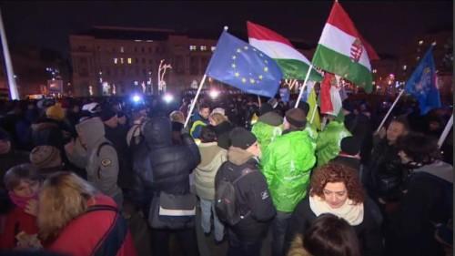 Hongrie : troisième soirée de manifestation