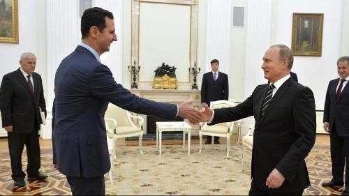 Visite surprise d'al-Assad à Moscou
