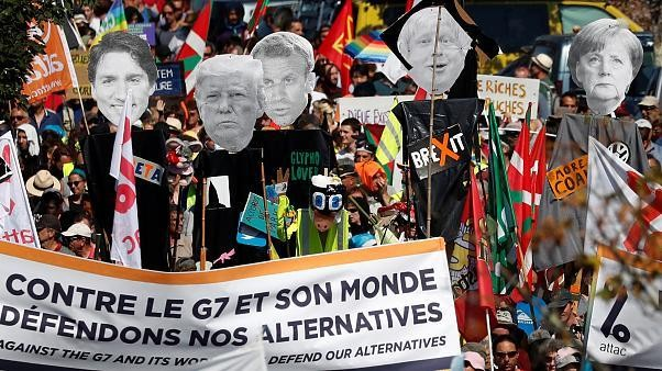 Watch live: Anti-G7 protests in Hendaye near France-Spanish border