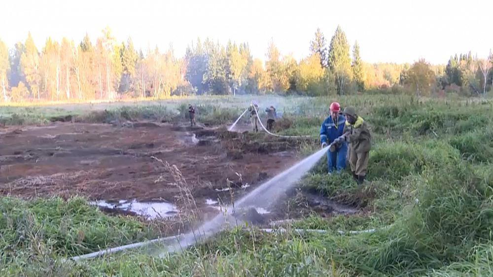 Torfmoore brennen - Zombie-Feuer in Sibirien
