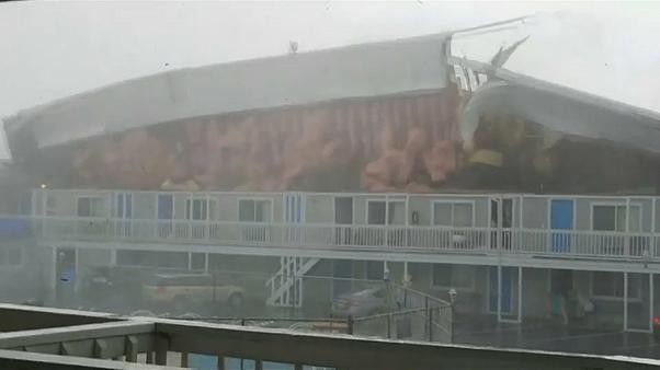 Watch: Tornado tears off hotel roof in US